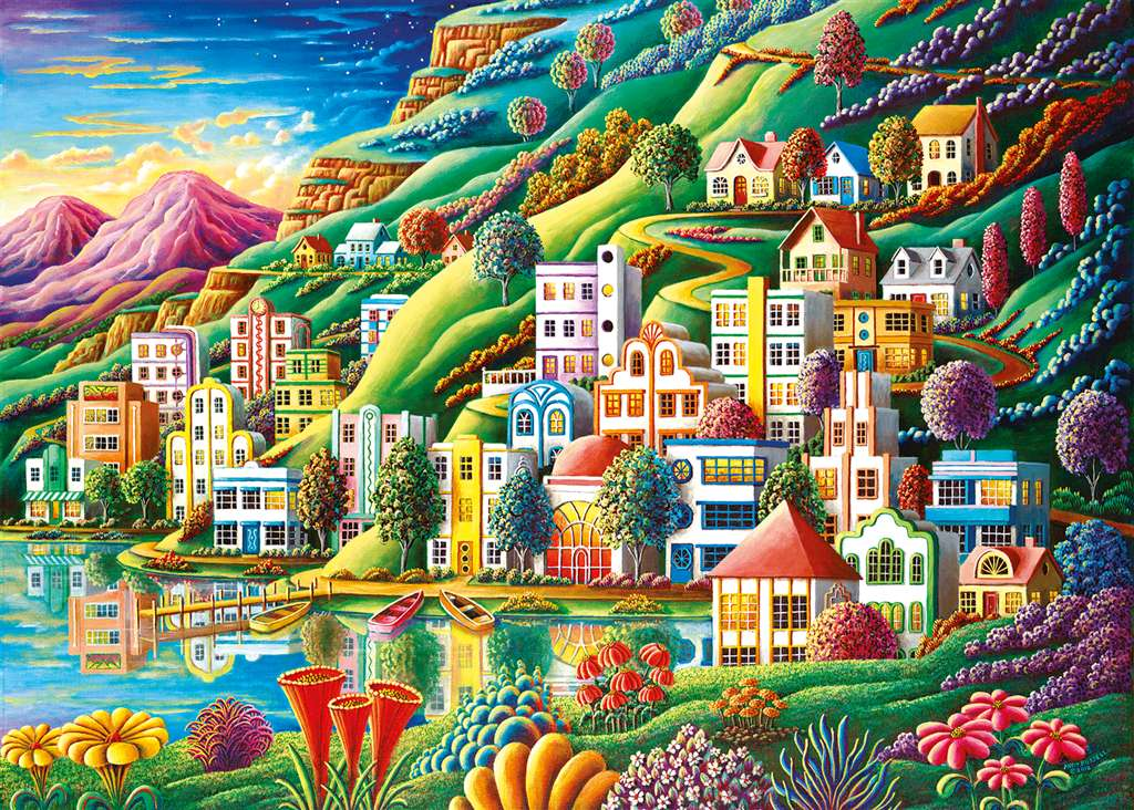 ravensburger jigsaw puzzle dream city puzzel item 194025