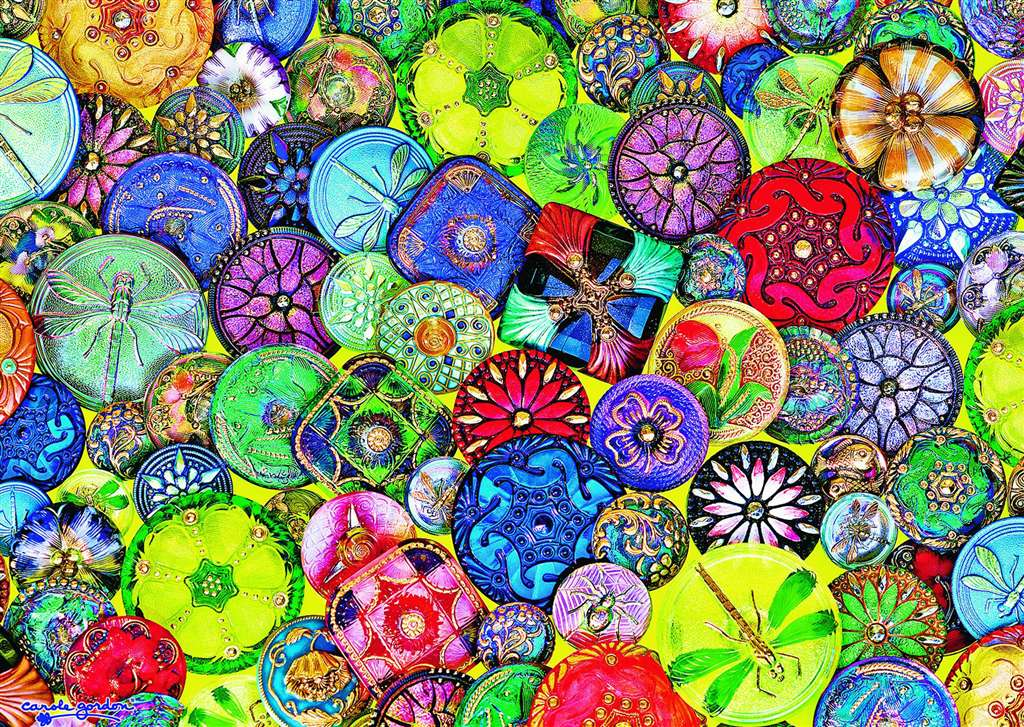 Beautiful Buttons by carole gordon 1000 Piece Puzzle by RavensburgerJigsawPuzzles beautiful-buttons
