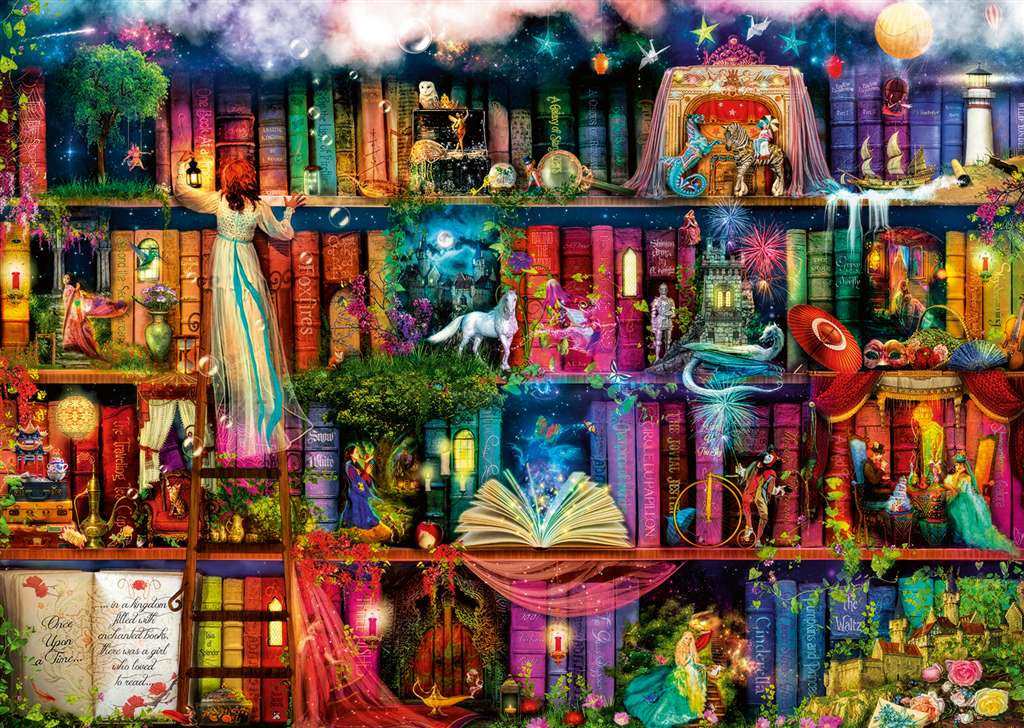 fairytale fantastia by Aimee Stewart fantasy artwork jigsawpuzzle by Ravensberger Games fantastic fairytale-fantasia