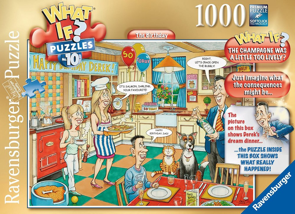 What If? Puzzle # 10 titled The Birthday, Made by Ravensburger Jigsaw Puzzles # 194377 the-birthday-what-if-puzzle