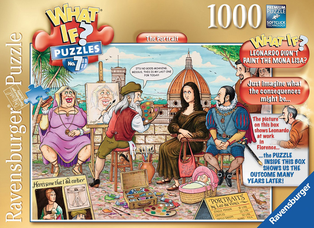 What If? Puzzle # 7 titled The Portarit, Made by Ravensburger Jigsaw Puzzles # 194377 the-portrait-what-if-puzzle