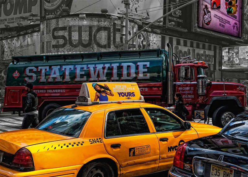 Ravenburger JigsawPuzzle 1000 Pieces by Ravensberger Games & Puzzles Germany yellow new york taxi ca yellow-taxi-ny