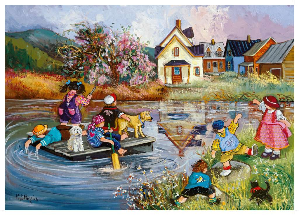 PaulinePaquin QuebecArtist Floating Adventure Ravenbsurger JigsawPuzzles thousand pieces jigsaws puz floating-adventure-pauline-paquin