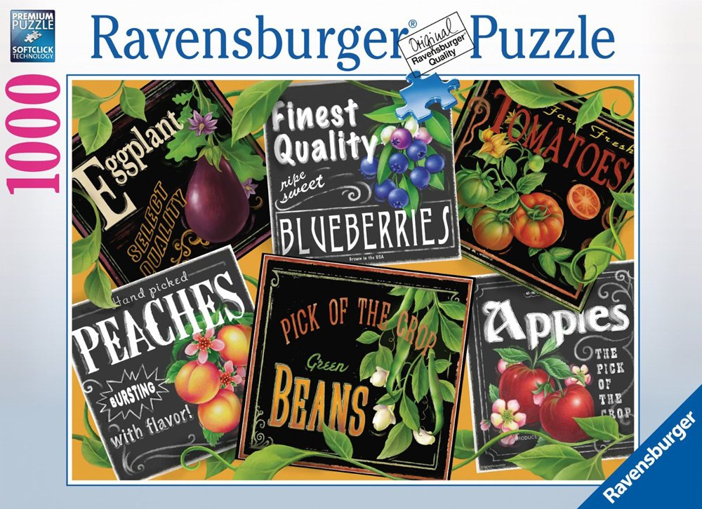 Jigsaw Puzzle 1000 pieces farmers market by Janet Amendola  manufactured by Ravensburger farmers-market