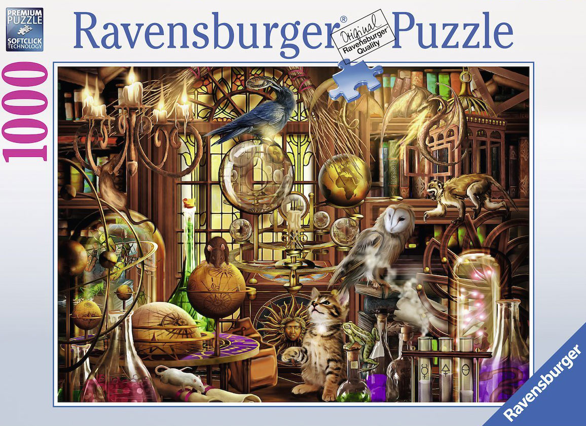 Laboratory 1000 Piece Jigsaw Puzzle by artist Colin Thompson Ravensburger Puzzel merlins-laboratory