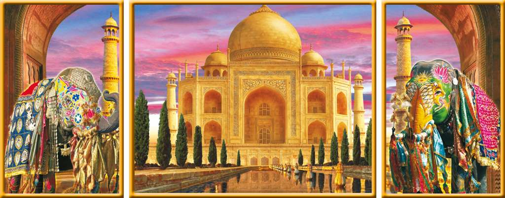 Taj Mahal India Agra Palace TajMahal 1000 Piece JigsawPuzzle Ravensburger puzzles Germany taj-mahal-dreams