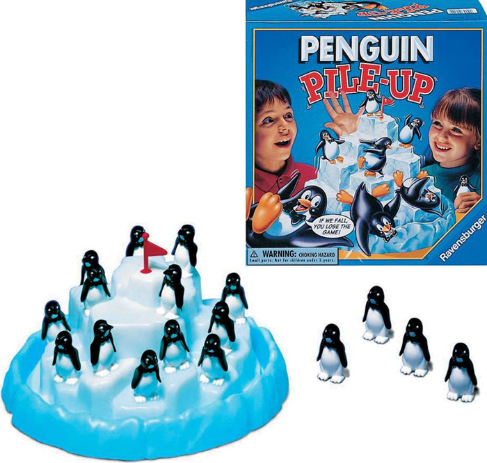penguin pile-up board game shaking iceberg and save the penguins penguin-pile-up