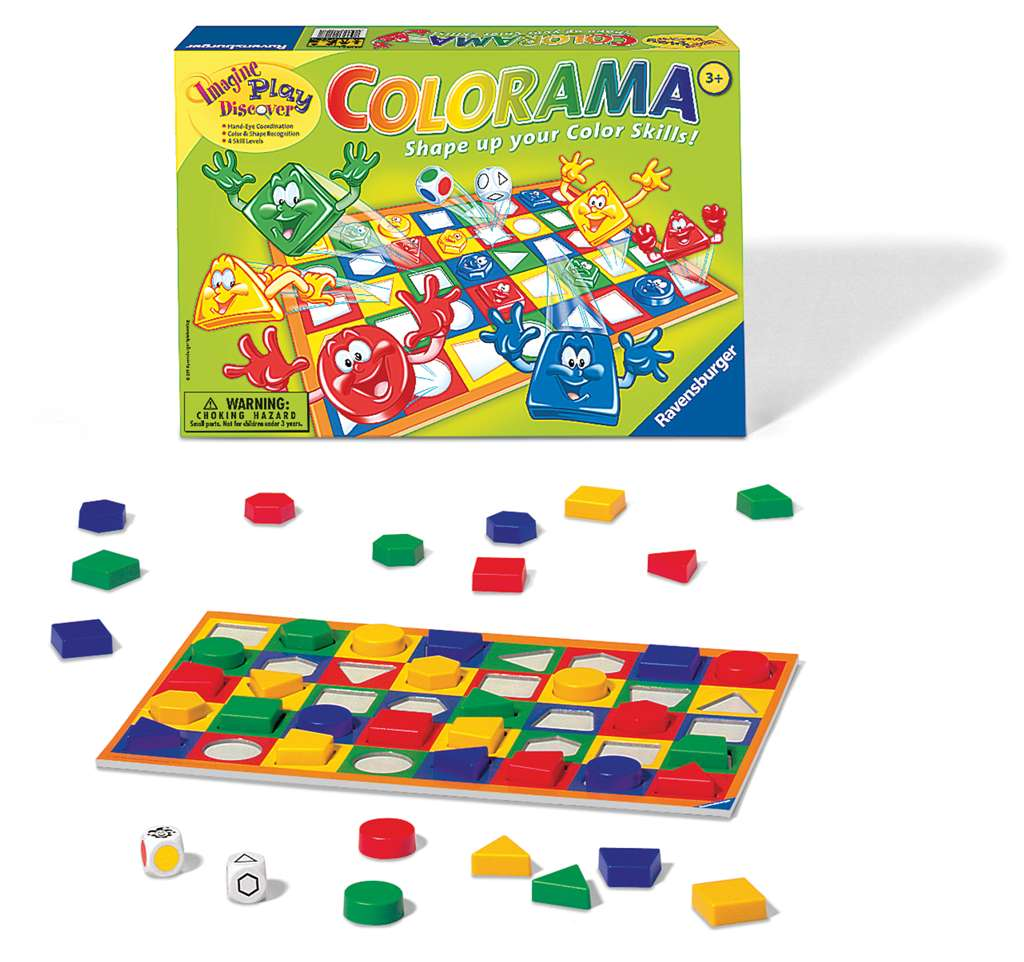Colorama board game by ravensburger shape up your color skills colorama