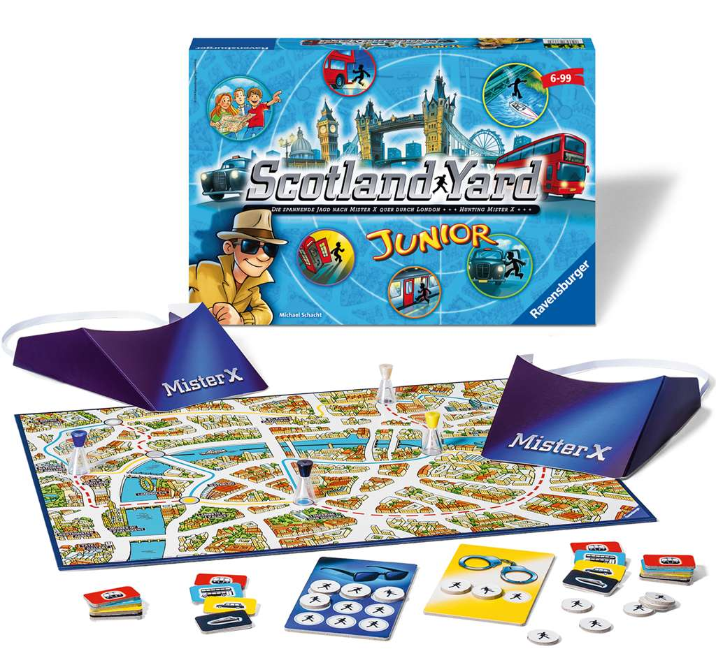 scotland yard junior! Strategic Board Game Made by Ravensburger Games # 261178 scotland-yard-junior