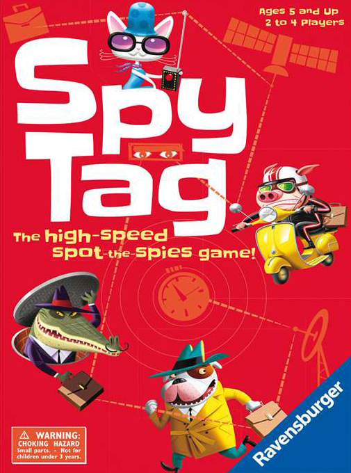 spy tag board game skillfully fill your gameboard manufactured by Ravensburger spy-tag