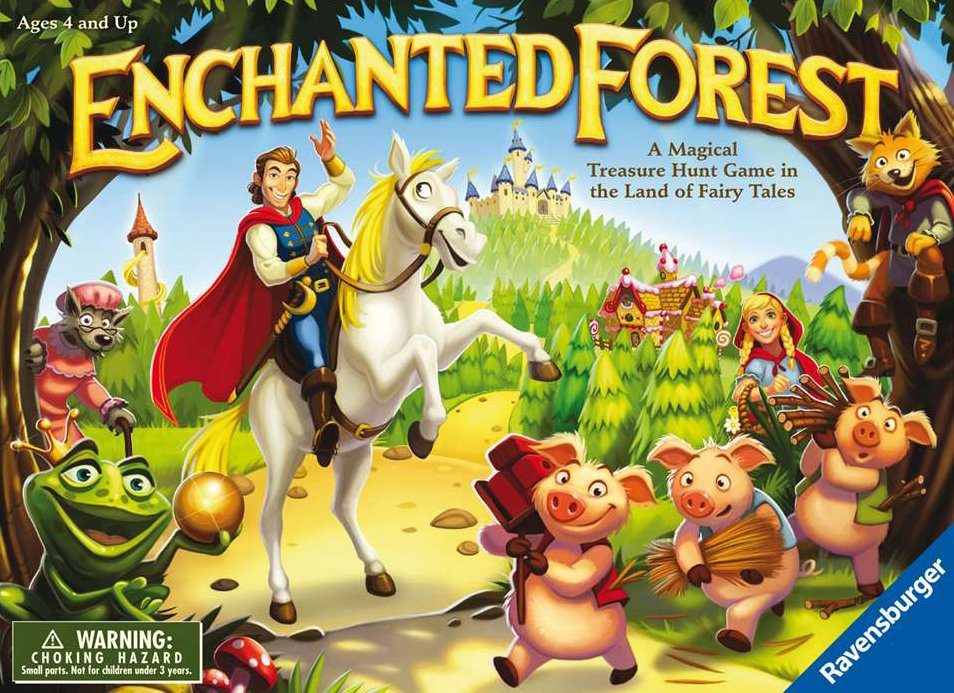 Enchanted Forest board game by ravensburger find the magical treasures to win the throne enchanted-forest