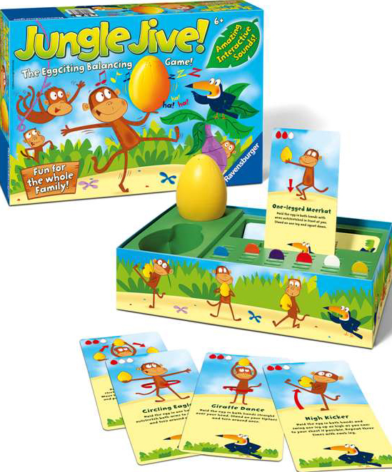 jungle jive board game the eggciting balancing game made by ravensburger games jungle-jive-balancing-game