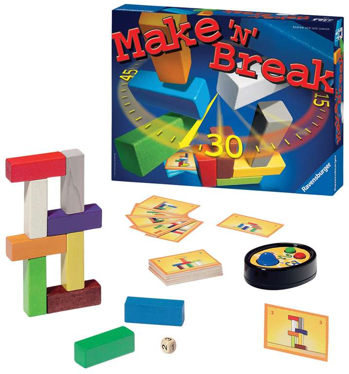 make n break, Strategic Board Game Made by Ravensburger Games # 264025 make-n-break
