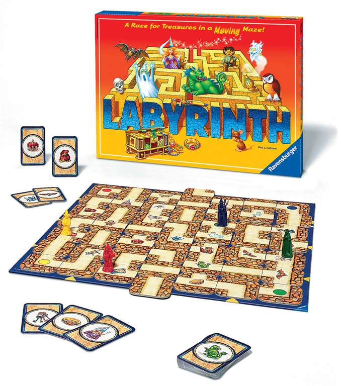 labyrinth board game search for the treasure deep within the maze by ravensburegr games labyrinth-board-game