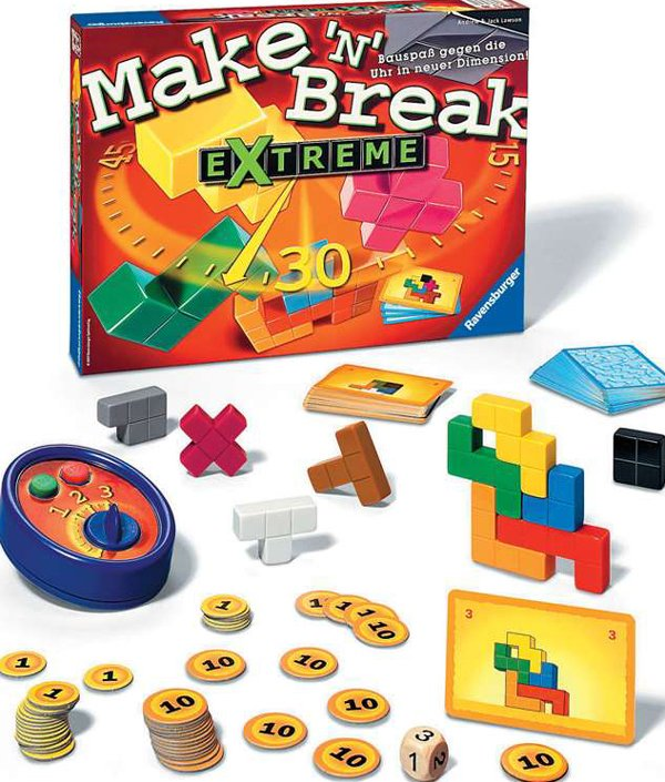 make n break extreme! Strategic Board Game Made by Ravensburger Games # 264490 make-n-break-extreme