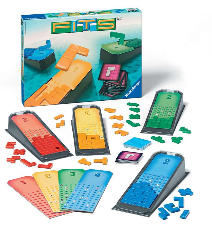fits tetris style board game skillfully fill your gameboard manufactured by Ravensburger fits-board-game