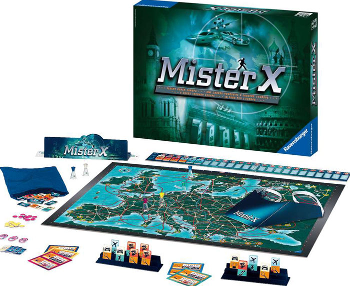 Mister X! Strategic Board Game Made by Ravensburger Games mister-x-game