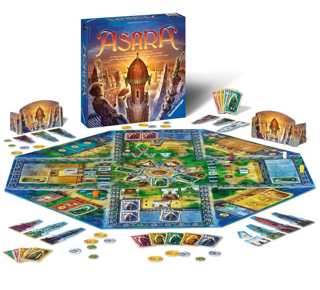 asara Strategic architect Board Game Made by Ravensburger Games # 265329 asara