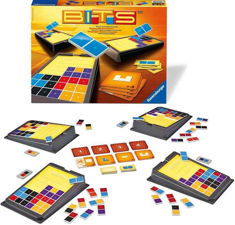 Bits: Bits of Color, Blocks of Challenge - Strategy Game Made by Ravensburger # 265466 bits-ravensburger