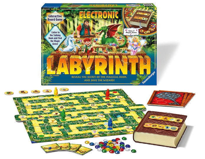 electronic labyrinth interactive board game reveal the secret of the magical book and save the wizar electronic-labyrinth