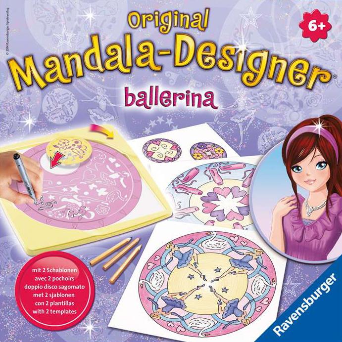 2 in 1 Mandala Designer Ballerina! The Amazingly Creative Drawing Machine, Made by Ravensburger # 29 mandala-2-in-1-ballerina