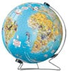 discover-the-world-earth-puzzleball-display-stand,3d earth jigsaw puzzle ball of the planet earth 9 inch spherical globe showpiece collectable ball