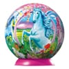 3d jigsaw puzzleball of unicorns on a 9 inch spherical globe showpiece collectable ball