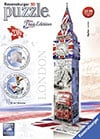 big ben flag edition 3d puzzle by ravensburger, 3diemnsional jigsaw puzzle, 216 pieces, 16inches