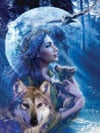 Goddess of the Wolves 1000 piece jigsaw puzzle manufactured by Ravensburger puzzles
