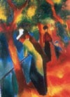 sunnypath,Auguste Macke's Sunny Path painting as 1000PiecePuzzle by RavensburgerJigsawPuzzles