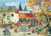 PaulinePaquin Quebec Artist Corner Store in Autumn Ravenbsurger JigsawPuzzles thousand pieces jigsaw