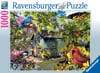 Time for Lunch Birds painted by artist Lori Schory ravensburger 1000 piece jigsaw puzzel # 156115 Puzzle