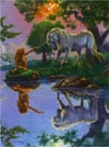 Magical Encounter between mermaid and unicorn fantasy art puzzle by Ravensburger # 156603