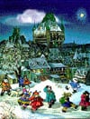 chateaufrontenac1000,ChateauFrontenac JigsawPuzzle PaulinePaquin Ravensburger1000Pieces # 156757 children playing