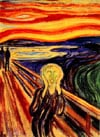 Edward Munch's The Scream or The Cry Painting as a one thousand piece jigsaw puzzle by Ravensburger