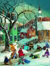 PaulinePaquin QuebecArtist WinterFun Ravenbsurger JigsawPuzzles thousand pieces jigsaws puzzels