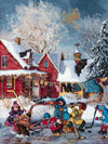 Puzzel Ravensburger Games Germany WinterGames PaulinePaquin Quebec Artist Childhood themes Canadian
