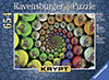 Chryptic puzzle color spiral Krypt series no image blank Ravenbsurger JigsawPuzzles thousand pieces