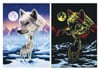 Ravesburger JigsawPuzzle 1000 pieces Starline artctic wolves DavidPenfound beautiful colors 161119
