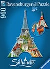 romantic paris eiffel tower jigsaw puzzle, ravensburger, 1000 pieces, antonie serra Puzzle