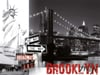 Brooklyn Bridge of New York with the Statue of Liberty in Black & White 1500Piece puzzle by Ravensbu
