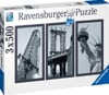 impressions-of-new-york,Impressions of New York with the Statue of Libert in Black & White 1500Piece puzzle by Ravensburger