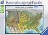 USA Map Ravensburger Jigsaw Puzzle, Map of the United States of America puzzle Puzzle