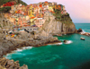 Italian Riviera Cinq Terre 2000 Piece Jigsaw Puzzle made by Ravensburger Puzzles in Germany Puzzle
