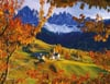 the-dolomites-in-autumn,italy dolomite mountain range in autumn photo for ravensburger 2000 piece jigsaw puzzel