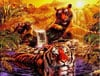 At The Water Hole 2 Tigers Jigsaw Puzzle 2000 Pieces by Ravensburger Puzzles # 166466 Puzzle