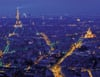 view of paris eiffel tower jigsaw puzzle, ravensburger, 2000 pieces, night photograph 166794
