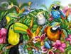 Tropical Birds painted by artist Lori Schory ravensburger 2000 piece jigsaw puzzel # 166817