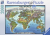 Ravensburger Puzzle # 166831 World Map JigsawPuzzle with Country Flags