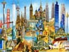 World Famous Buildings Collage 3000 Piece jigsaw puzzle ravensburger games germany puzzel europe Puzzle